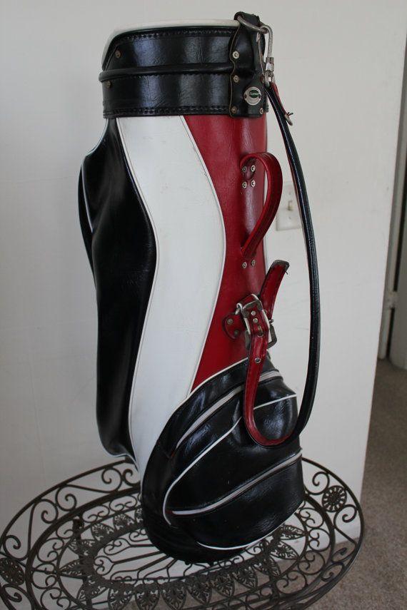 Golf Bag Vintage Cart Golf Bag Soft Leather by VintageTimeandLife
