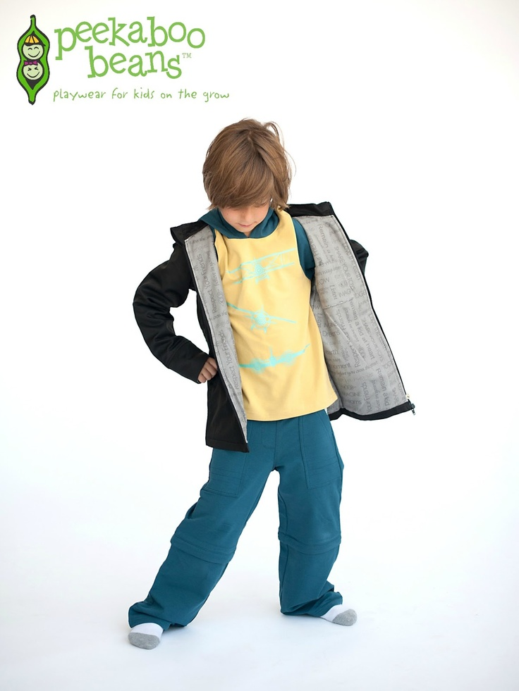Peekaboo Beans: Fall 2012 Collection - Aviation Tee, Big Brother Jacket and Circa Pant  Join the Play Revolution at www.peekaboobeans.com