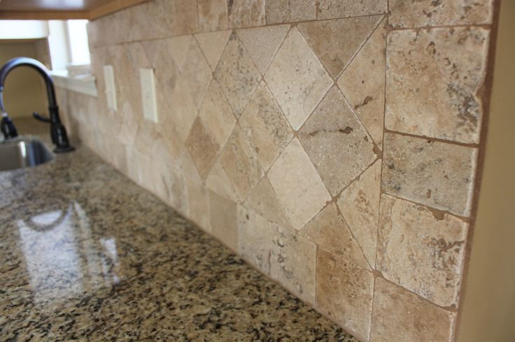 tumbled marble backsplash work ideas pinterest