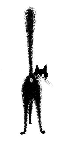 Albert Dubout. His cat drawings are so clever and funny