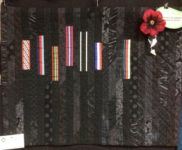 Legacy, made with replica ribbons from my father and father in law's medals. 2015