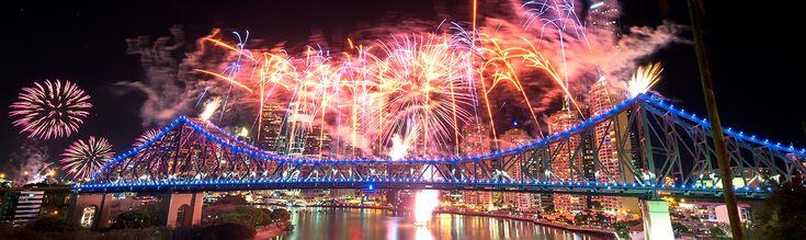 Fireworks over the Story Bridge