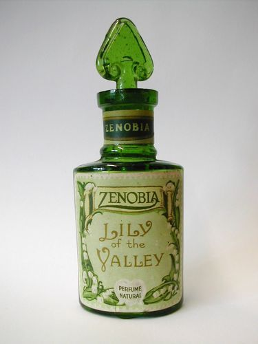 "RARE Antique Edwardian ""Zenobia"" ""Lily of The Valley"" Perfume Bottle 1908 09 