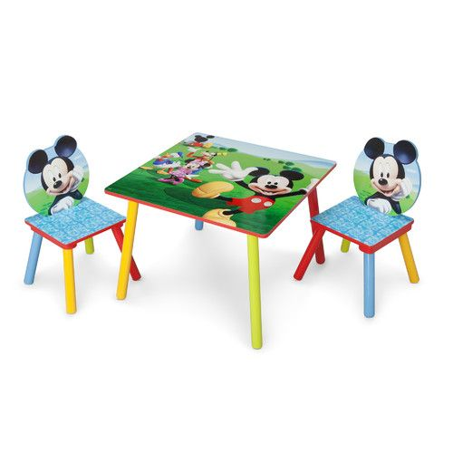 Delta Children Mickey Mouse Table and Chair Set                                                                                                                                                                                 Mais