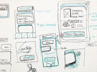 UI & Wireframe Sketches for your Inspiration
