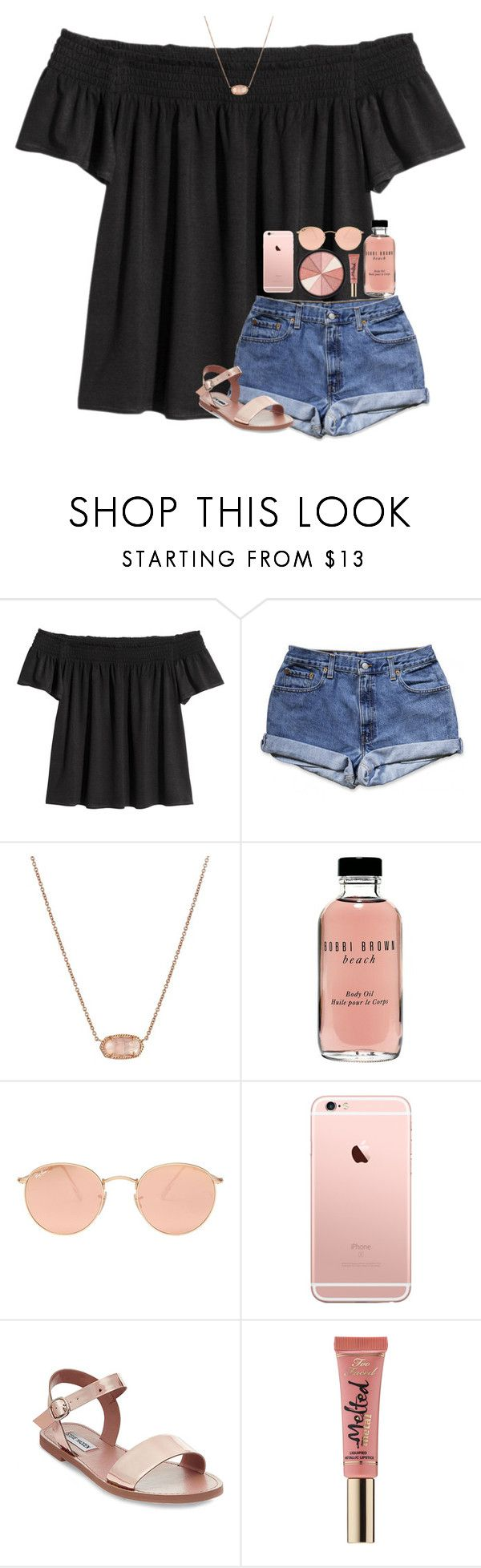 """Rosy"" by southerngirl03 ❤ liked on Polyvore featuring Kendra Scott, Bobbi Brown Cosmetics, Ray-Ban, Steve Madden, Too Faced Cosmetics and Smashbox"