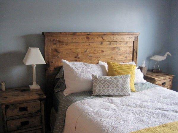 Reclaimed Wood Look Headboard Do It Yourself Home