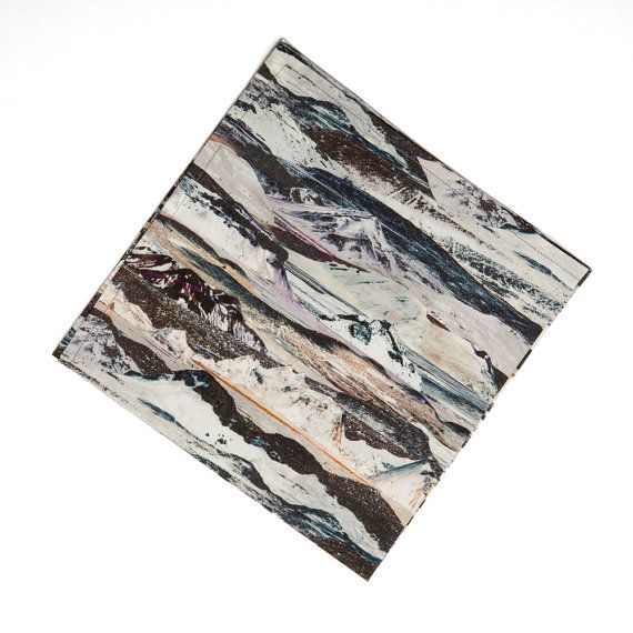 glacier and mountain Pocket Square handkerchief by pompandceremony, $25.00  LOVE geology prints!!!