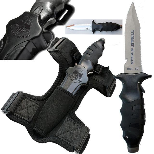 Apollo SQR 36 Titanium Dive Knife - $159 (http://diveimportsaustralia.com.au/apollo-titanium-dive-knife-sqr-36-hrc/)
