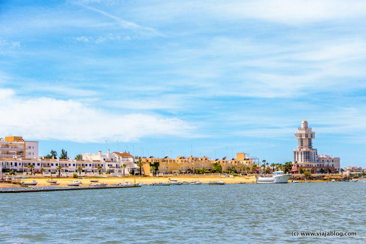 Isla Cristina (Huelva) desde el Río Carreras