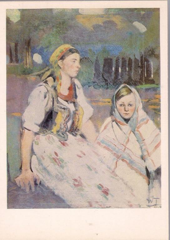 pocztówka TETMAJER Dziewczyny wiejskie Folklor KAW