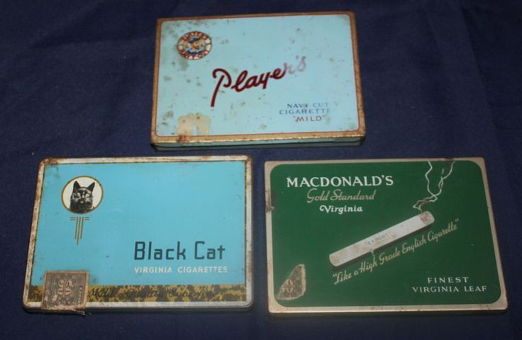 Canadian cigarette tins, have players & Macdonalds
