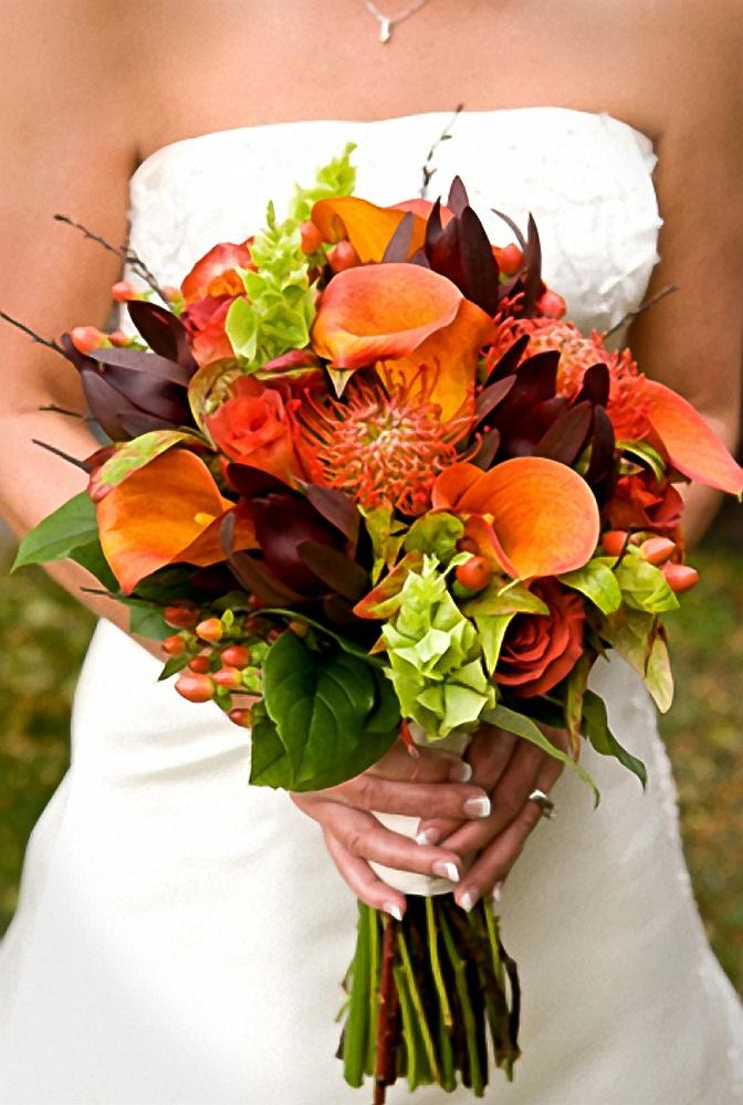 Fall Wedding Bouquets, Fall Wedding Flowers, Autumn Wedding Bouquets, Bride  And Fall Bouquet
