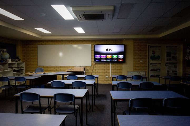 Interactive Educational Systems designed and installed by the team @ Macktronix.  This system offered full control and integration of iPads to run the lesson schedule and email students content once delivered.