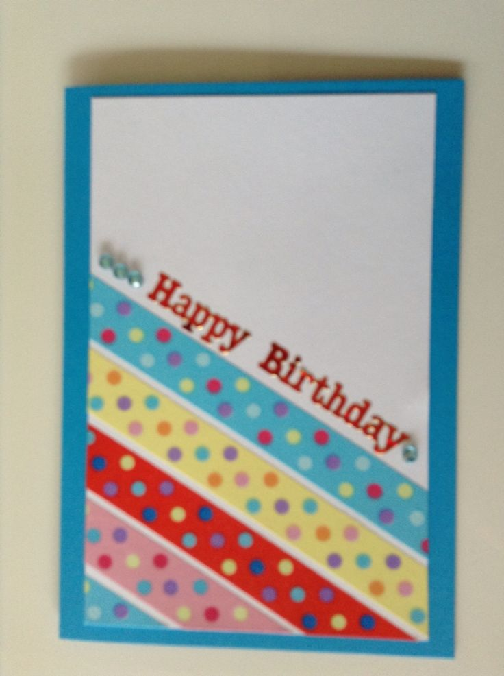 Simple washi tape card
