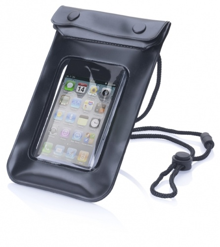 H2O Bag (#MB5037) Protect but still use your smart phone when you are near the water. The H2O bag will keep your device safe in the splashzone or rain. Not suitable for use in water. www.pslworld.com