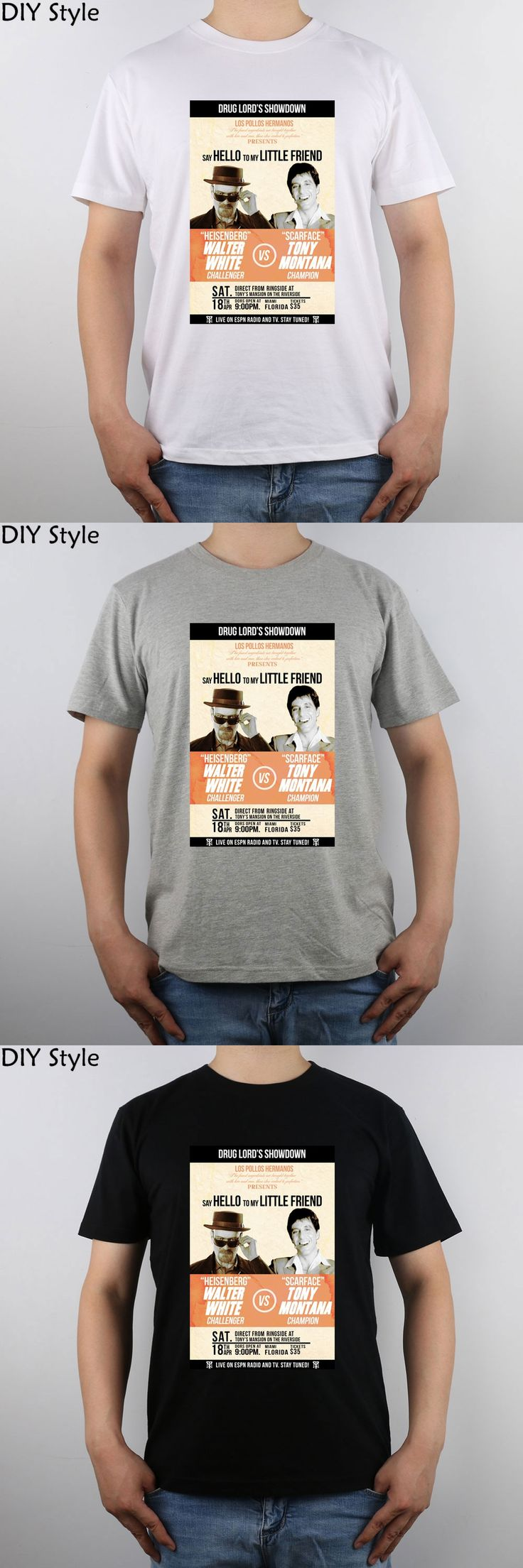 Heisenberg Vs Scarface Showdown t-shirt Top Pure Cotton Men T Shirt New Design High Quality