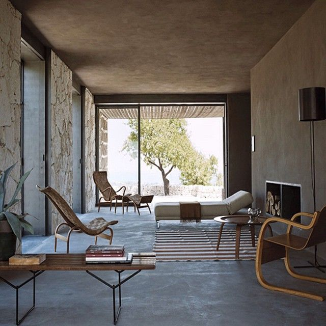 'Casa Eloro' by Gordon Guillaumier in Noto, Sicilty, 2008. Bruno Mathsson chairs.