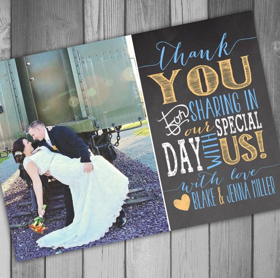 Danke Karte Hochzeit Karte Foto Danke Karte Tafel von CLaceyDesign