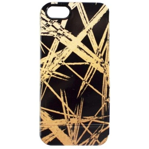 Khristian A. Howell Gold Strokes Iphone 6 Or 6+ Faux Gold, White Or... ($34) ❤ liked on Polyvore featuring accessories, tech accessories and electronics accessories
