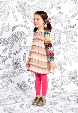 missoni girls  pink sweater dress fall winter 2013 collection from Italy. click here to learn more http://www.dashinfashion.com/news/missoni-kids-fall-winter-2013-collection.html
