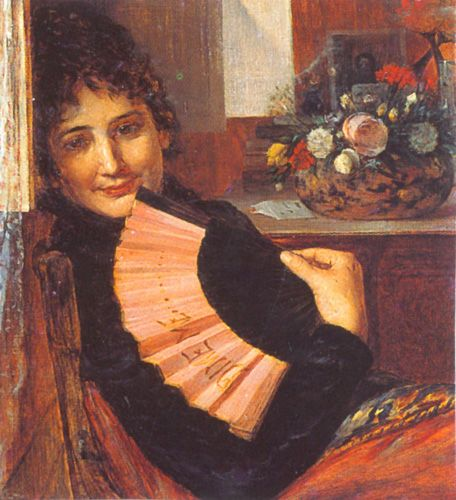 COQUETERÍA,  Óleo sobre Tela 61 x 57 cm Museo Nacional de Bellas Artes