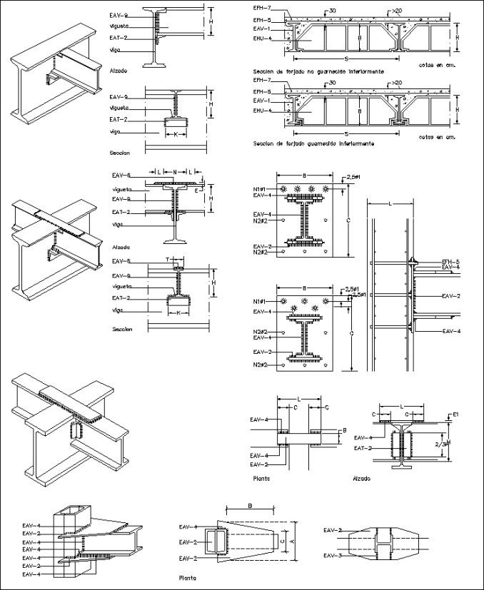 Best 50 steel structure details cad drawings download for Structural design of a house