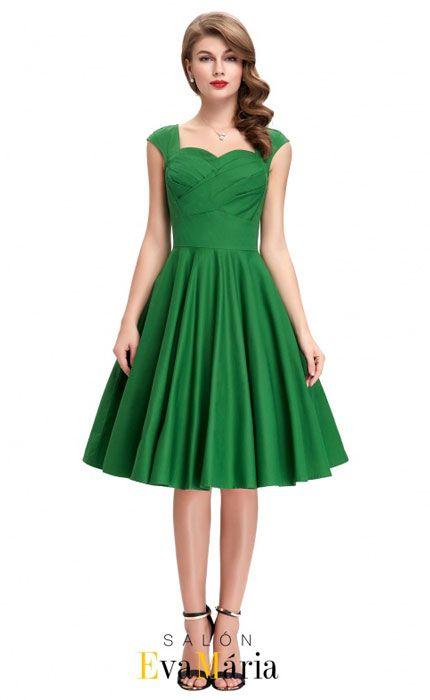 Zelené retro šaty pre družičku