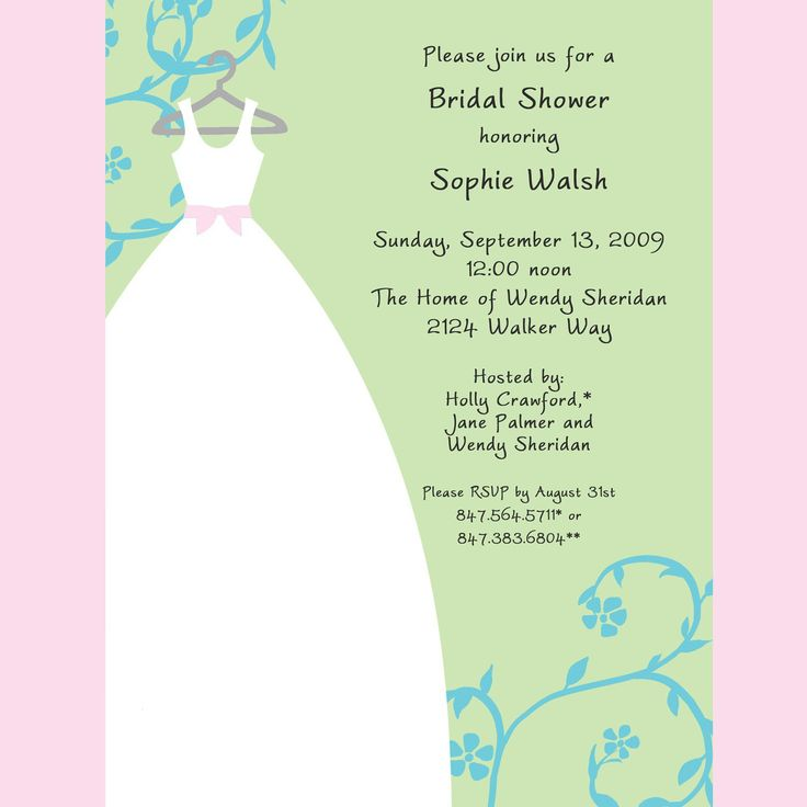 Wedding Shower Invitation Sayings