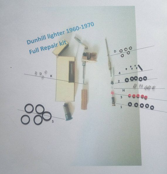 Product Features Reparatur Set Konnen Fur Dunhill Rollagas Feuerzeug Und Nur 1960 1980 Jahre Feuerzeuge Reparatur Gas Leck 100 Gara Repair Kit Lighter