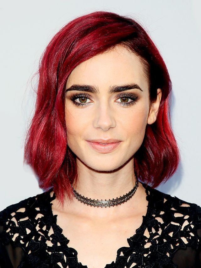 Lily Collins Shades Of Red Hair Trendy Hair Color Dark Red Hair Color
