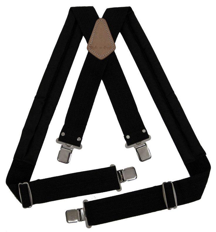 Style n Craft  95013 - Padded Work Suspenders in Heavy Duty Black Webbing #StylenCraft #ToolBeltsPaddedSuspenders