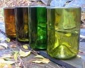 Reclaimed Wine Bottle Glasses