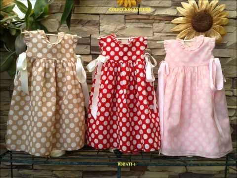 DIY Ropa bebé: Cómo hacer vestido de bebé niña muy fácil (patrón en varias tallas incluido) - YouTube