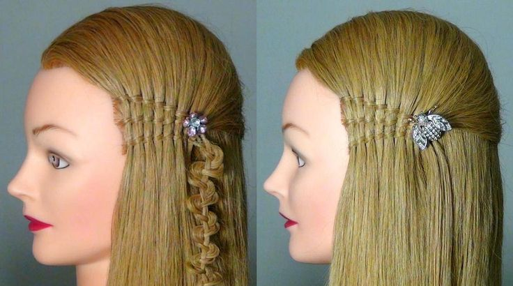 "Прическа ""Французский водопад"". Waterfall twist hairstyles for  long hair"