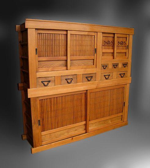 17 best images about kitchens on pinterest base cabinets rare antique japanese kitchen cabinet mizuya meiji