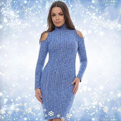 Diferite modele de rochii tricotate, acum în stocul Adrom Collection <3