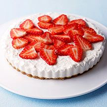 Weight Watchers - Cheesecake met aardbeien - 8pt