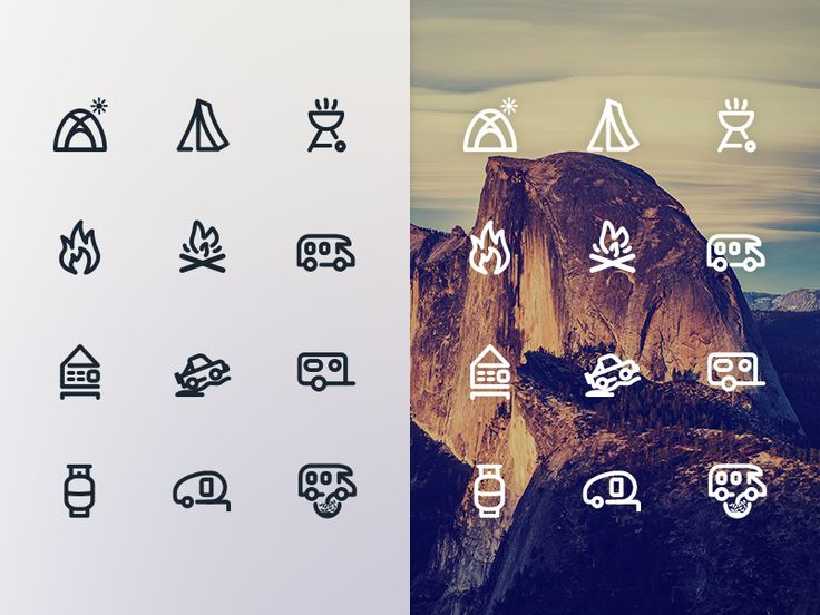 Working on Camping icons by Chirag D