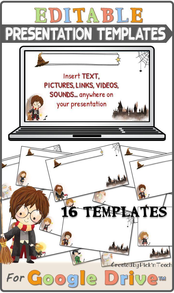 16 Google Slides Templates For Wizards And Teachers Editable Google Drive Pedagogie Google Docs