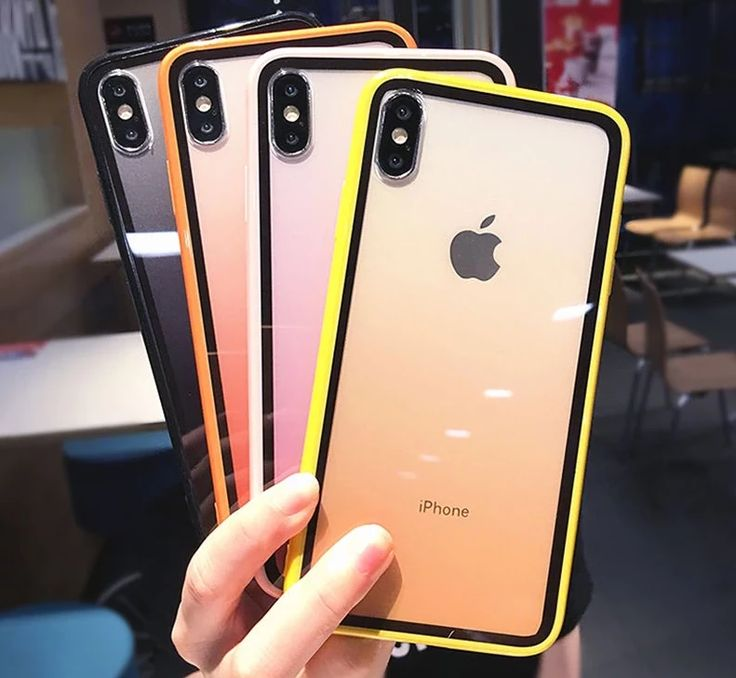 Colorful gradient transparent phone case for iphone xs max