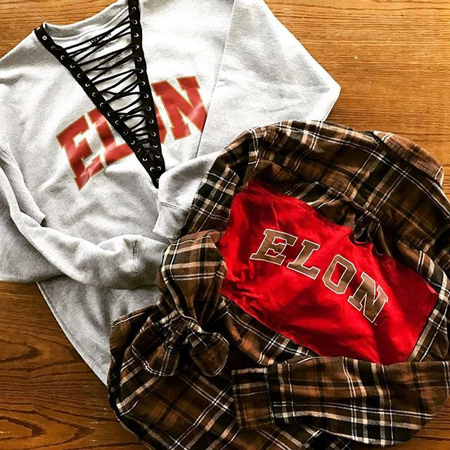 ELON ♥️ tag a Phoenix who loves cute #gameday outfits ♥️Flannels & Crewnecks are every college girls winter must have's ♥️ we make lace up crew necks and flannels for all colleges ♥️ order yours on HamsaFaith.com ♥️ #elon #elonuniversity #elonphoenix #phoenix #university #college #elonbound #sorority #sororitylife #sororityrush #sororitygirls #sororitysisters #sororityrecruitment #northcarolina #outfitoftheday #outfit #fashionblogger #tailgate #tailgating #tailgateszn #laceup #flannel…