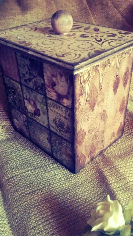Cookie box dirty pralines decoupage