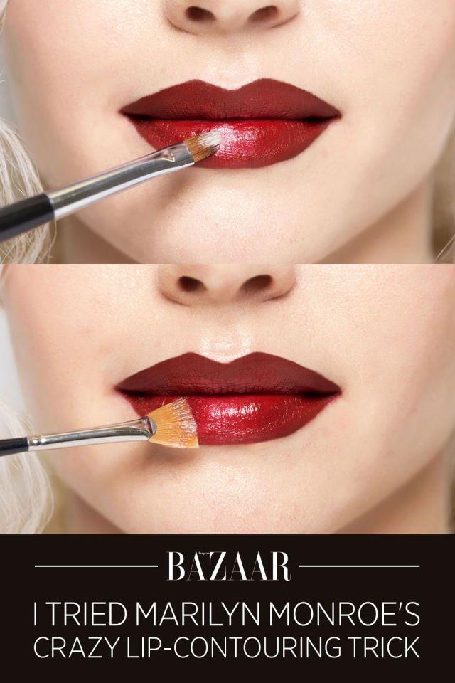 How to make your lips look bigger using Marilyn Monroe's secret makeup trick: