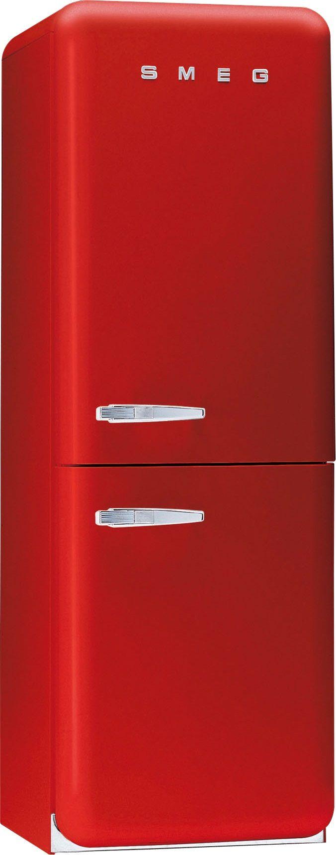 Rood is niet alleen een mooie kleur voor de aardbeien, maar ook voor die opvallende koelkast in je keuken!