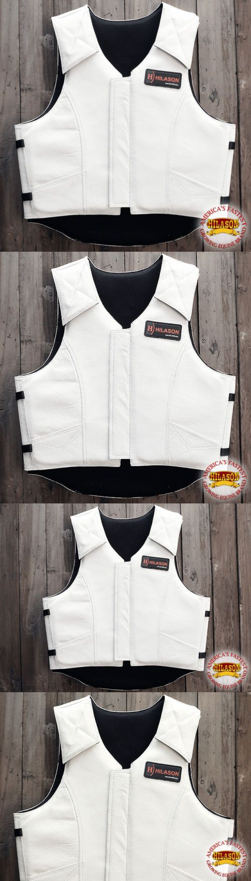 Other Protective Gear 87446: Pv800nd-F Hilason Leather Bareback Pro Rodeo Horse Riding Protective Vest Xlrg -> BUY IT NOW ONLY: $164.99 on eBay!