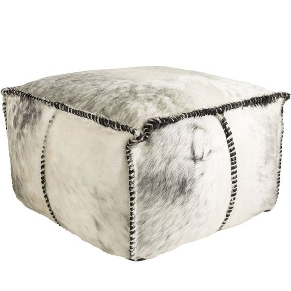 Image result for cowhide pouf