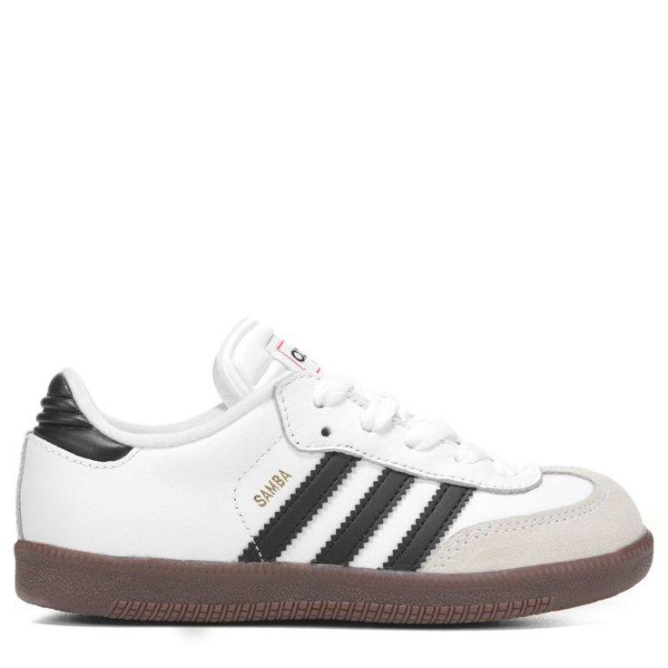 Adidas Kids' Samba Classic J Sneaker Pre/Grade School Shoes (White) - 12.5 M