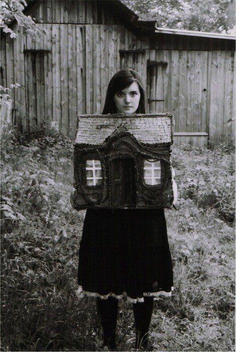 Girl With Dollhouse