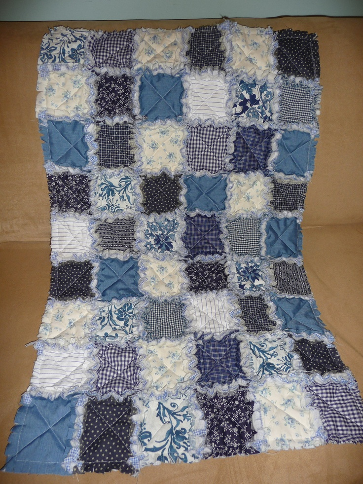 17 best images about quilts rag on pinterest plaid for Quilt material for boys